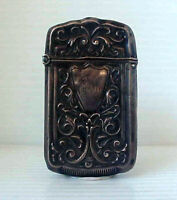 Antique Sterling Silver Very Fancy Match Safe