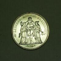 1967 10 Francs Hercules France AU Silver Coin KM#932