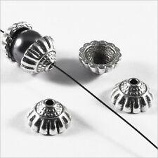 Lot 20 Calottes pour bijoux Métal style Tibétain 10 x 9 mm / Trous 1,5mm