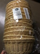 "Lot Of 84 TableCraft Products M1175W Basket, Round Natural 8.25"" X 3.25"""