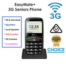 "3G SENIORS MOBILE PHONE ""Olitech Easy Mate+"" SOS CALL BIG BUTTON, 3MP Camera"