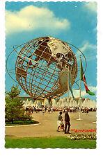 Unisphere-Fountain-Flag-New York World's Fair-1964 Exposition-Vintage Postcard