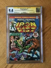 Marvel Premiere #19 Signed Hama Moench Starlin Milgr 1st Colleen Wing 9.4 NM CGC