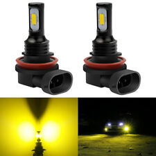 2x H8 H9 H11 3000K Yellow 2400LM High Power CREE LED Fog Lights Driving Bulb DRL