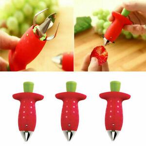 Strawberry Tomato Stem and Leaf Remover Huller Plucker fruit corer Peeler UK.