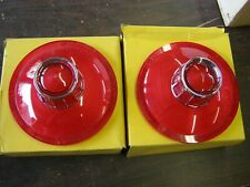 NOS 1963 Ford Galaxie Tail Light Lenses Lens Custom 300 500 Lightweight GloBrite