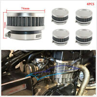 4x 48-52mm Stainless Steel&Rubber Motorcycle Air Filter Cleaner For Honda Yamaha