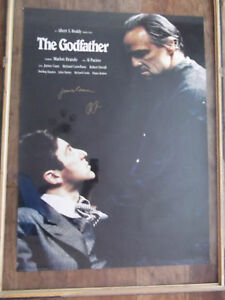 The Godfather Signed Al Pacino & James Caan Movie Poster 24x34
