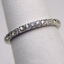 2 mm Diamond Eternity Band 18 kt White Gold Size 5 1/2 #A1490