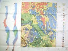 Usgs Snowmass Colorado Geologic Map, Huge Full Color Map Original Sleeve 1970