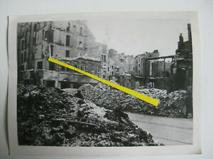 Original WK2 Presse Foto Berlin Mitte Endkampf Bombenschäden Kommandantenstraße