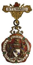 MEDAGLIA ROYAL MASONIC INSTITUTION FOR GIRLS 1934 / STEWARD con smalti #N413