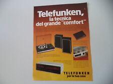 advertising Pubblicità 1977 TELEFUNKEN K 205/DIGITALE 101/COMPACT 1001 S