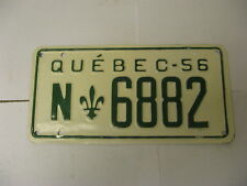 1956 Quebec Canada License Plate N6882