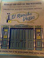 Vintage Las vegas menu, El Rancho Hotel Restaurant , mid century collectible