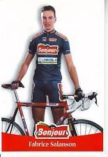 CYCLISME carte cycliste FABRICE SALANSON équipe  BONJOUR.2000