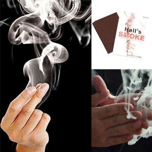 Mystic Finger Hells Smoke Magic Trick Smoking Illusion Paper Kids Magician 10PCS