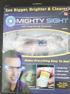 REAL Mighty Sight! LED flashlight glasses w/ magnification NOT FAKE Original Box