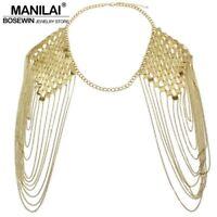 Collar Statement Punk Choker Necklace Bib Pendant Chunky Women Chain Jewelry