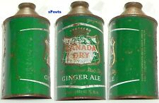 CANADA DRY GINGER ALE SODA POP CONE TOP BEVERAGE CAN NEW YORK,N.Y.NY CITY 1950's