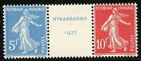 FRANCE STRASBOURG TRYPTICH SCOTT#241a/b MINT NEVER HINGED --SCOTT VALUE $800.00