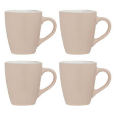 Sienna Set of 4 Coffee Mugs Natural White Stoneware 12oz Home Office Tea Cups