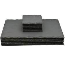 12 Piece Natural Slate Rectangle 6 Placemats & 6 Coasters Tablemats Drinks Set