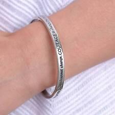 Whole Sales 2Pcs Silver Tone Serenity Prayer Cuff Bracelet Bangle From USA