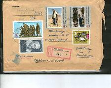 DDR Marken aus 1969 etc Einschreiben Päckchen 1988 gelaufen LEIPZIG AUGSBURG MiF