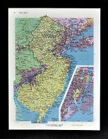 c1970 McNally Cosmo Map - New Jersey - Trenton Philadelphia New York City Inset