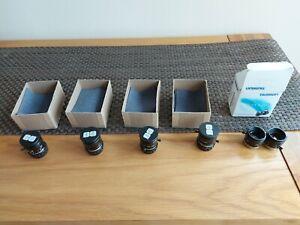 6 x Camera lens c mount various types