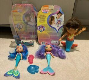 Dora The Explorer Dive & Swim Mermaid Doll -Mattel, Shimmer & Shine Shine & Nila
