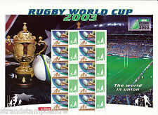 2003 Rugby World Cup Australia Post Smilers Sheet
