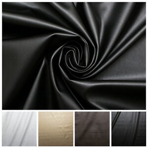 Faux Leather Dress Making Clothing Leatherette Lycra Stretch Fabric PVC Material
