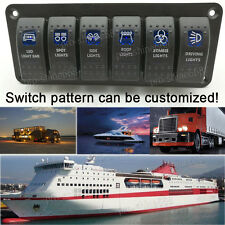 12V 16A On/Off Light 6 Rocker Reset Switch Carling Boat Car With Switch Panel a