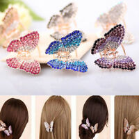 Butterfly Claw Women Girl Crystal Rhinestone Hair Clip Clamp Jaw Hairpin Jewelry