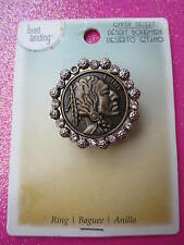 American Indian Head Coin Stretch Ring