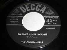The Commanders: Swanee River Boogie / Honey In The Horn 45