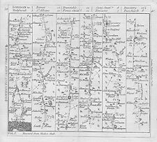 1782 Road Map London to Holyhead Barnet St Albans Dunstable Daventry Dunchurch