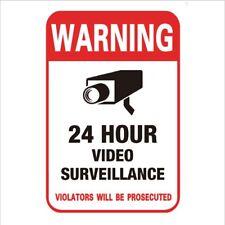 CCTV Alarm Surveillance Security Camera Video Sticker Warning decal Signs 24h TW