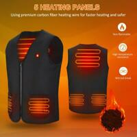 Electric USB Winter Heated Warm Vest Men Women Heating Coat Jacket Boy Clothing