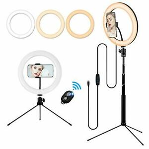 10'' Makeup Ring Light with Tripod Stand and Phone Holder