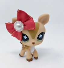 Littlest Pet Shop LPS LOT Deer Brown & Bow