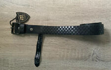 Htc Metal Studded Leather Belt Dark Brown/ To F..Special Hand Made In Italy