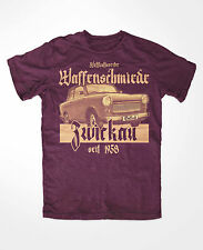 Waffenschmiede Zwickau T-Shirt Burgundy S51 S50 Trabi DDR Pappe Simson AWO