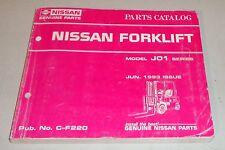 Teilekatalog Parts List Gabelstapler Fork Lift J01 Series Stand 1993