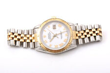 Rolex Mens 18K/SS Thunderbird Datejust - White Roman Dial - Jubilee Band 16253