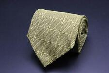 LUCIANO BARBERA Silk Tie. Yellow Plaid /Checks. Made in Italy.