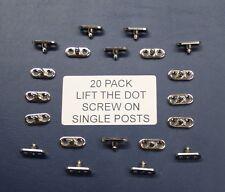 20 pack LIFT THE DOT SINGLE POSTS SCREW ON (UTE TONNEAU TARP FITTING) (TNSAC56)