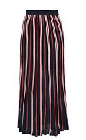 Sandro Striped Pointelle and Ribbed Knit Midi Skirt, Size 2 or UK10, New,Genuine